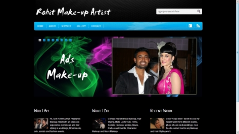 Website for Rohit Makeup Artist