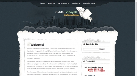 Website for Siddhi Vinayak International