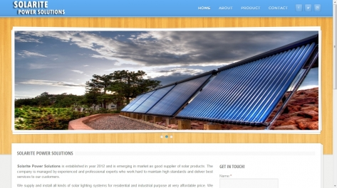Website for Solarite Power Solutions