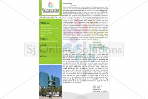 Letter Designing for Wesderby India Pvt. Ltd