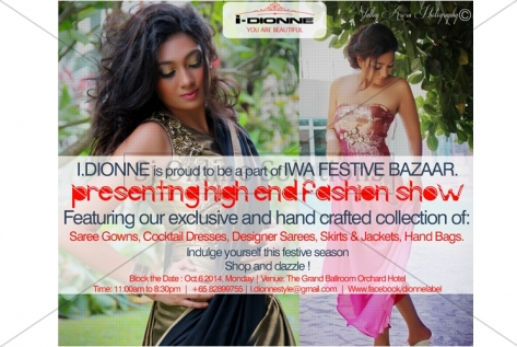 Invitation Designing For IDionne Fashion Label, Singapore