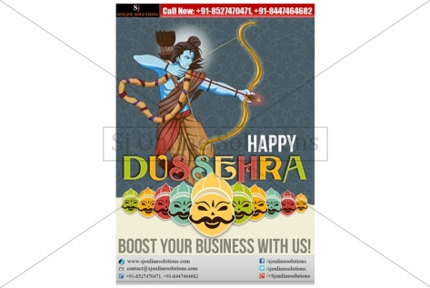 Newsletter Designing For Dussehra